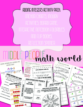 Adding Integers Activity Pack: Interactive Notebook, Games