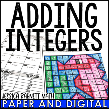 Adding Integers Coloring Page Activity