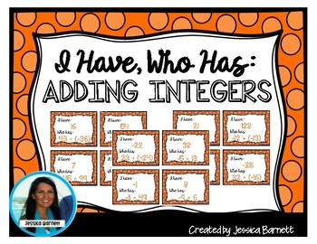 Adding Integers: I Have, Who Has