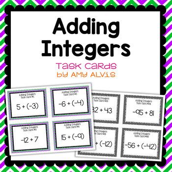 Integer Task Cards - Addition