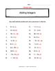 Adding Integers practice
