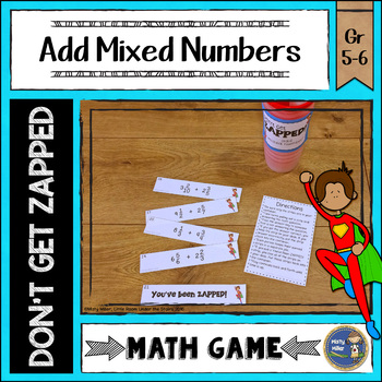 Adding Mixed Numbers ZAP Math Game