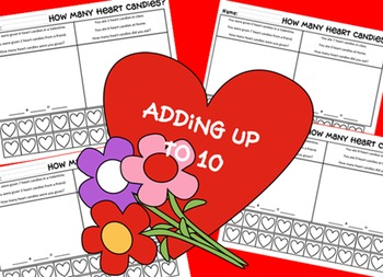 Adding Numbers up to 10 - Valentine's heart theme
