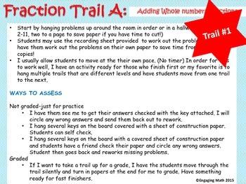 Adding Positive and Negative Fractions (Trail Bundle - 3 l
