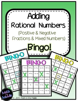 Adding Rational Numbers (Positive & Negative Fractions & M
