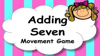 Adding Seven Addition Facts Mental Maths Game, Brain Break