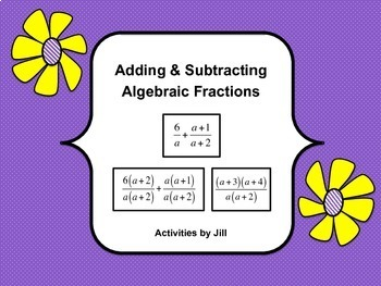 Adding & Subtracting Algebraic Fractions (Rational Express