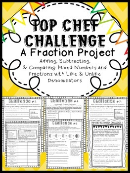 Adding, Subtracting, & Comparing Fractions: CCSS Project,