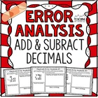 Adding and Subtracting Decimals Error Analysis  {Center, Enrichment, Assessment}