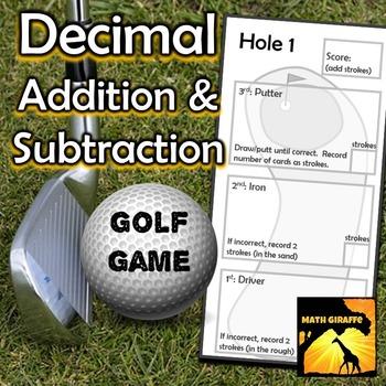 Adding & Subtracting Decimals - Golf Game