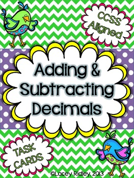 Adding & Subtracting Decimals