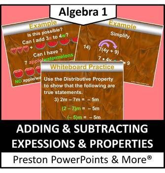 Adding & Subtracting Expressions & Properties in a PowerPo