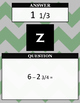 Adding & Subtracting Fractions & Mixed Numbers Review CARO