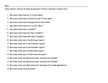 Adding & Subtracting Fractions with Common Denominators (U