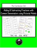 Adding & Subtracting Fractions using Area Models (4.3E, 4.NF.3)