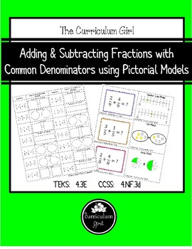Adding & Subtracting Fractions using Pictorial Models (4.3