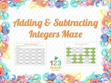 Adding & Subtracting Integers Maze (Worksheet Activity)