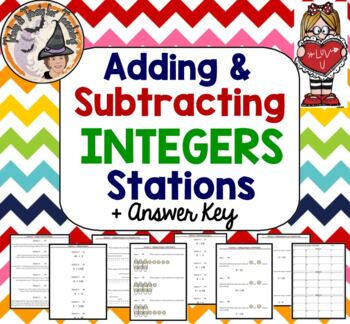 Adding & Subtracting Integers STATIONS Applications Add Su