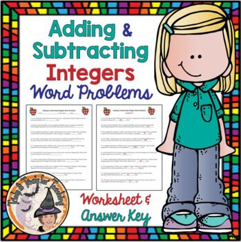 Adding & Subtracting Integers Word Problems Practice with