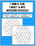 Adding & Subtracting, Multiplying & Dividing Integer Puzzl