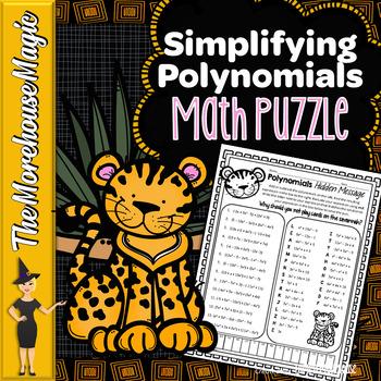 Adding & Subtracting Polynomials Math Puzzle