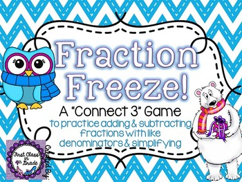 Fraction Freeze! (Adding, Subtracting, & Simplifying Fractions)