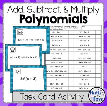 Polynomials (Adding, Subtracting and Multiplying) - Task C