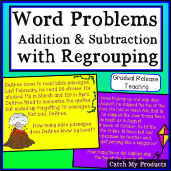Adding & Subtracting with Regrouping Word Problems for Pro