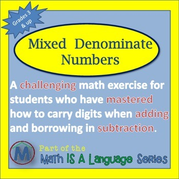 Addition and Subtraction Challenge - Mixed Denominate Numbers