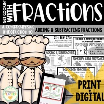 Add/Subtract Fractions-Unlike Denominators: Activities, Ma