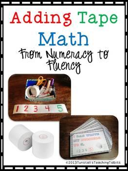 Adding Tape Math Tub
