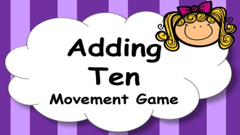 Adding Ten Addition Facts Mental Maths Game, Brain Break o