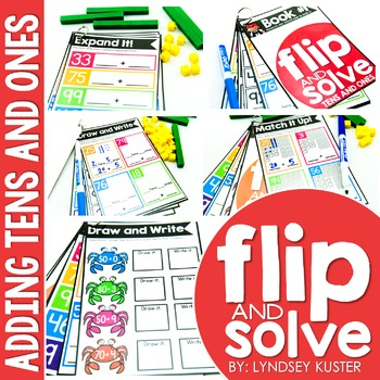 Adding Tens and Ones - Flip and Solve Books