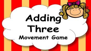 Adding Three Addition Facts Mental Maths Game, Brain Break