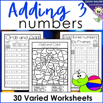Adding Three Numbers (Add 3 Numbers)... by Olivia Walker ...