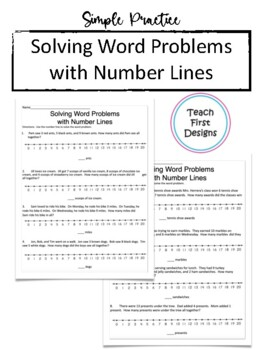 Adding Three Numbers with a Number Line