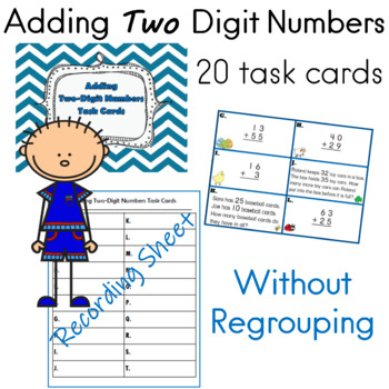 Adding Two Digit Numbers Task Cards