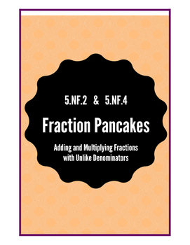 Adding Fractions with Unlike Denominators using Pancakes! 5.NF.2