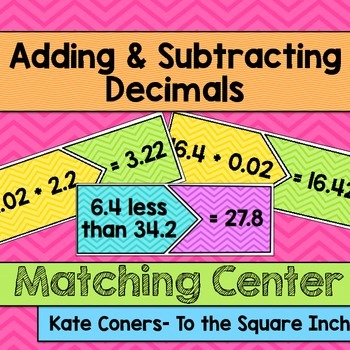 Adding and Subtracting Decimals Center