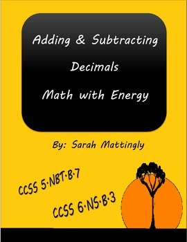 Adding and Subtracting Decimals Math with Energy