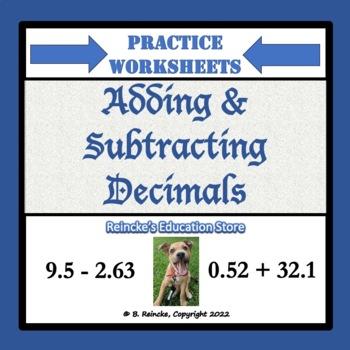 Adding and Subtracting Decimals Practice Worksheets