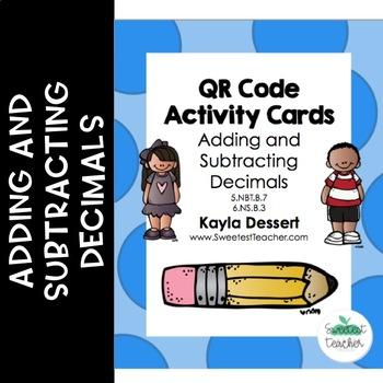 Adding and Subtracting Decimals QR Code Activity Cards