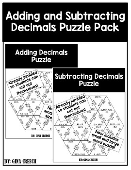 Adding and Subtracting Decimals (Two Puzzles!)