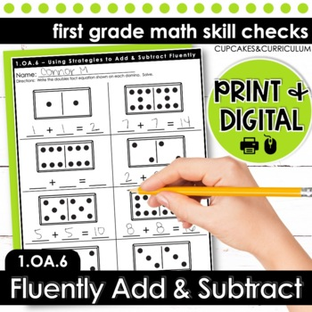Adding and Subtracting Fluently - First Grade Print and Go