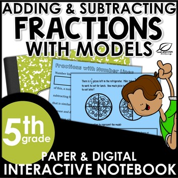 Adding and Subtracting Fractions with Models Interactive N