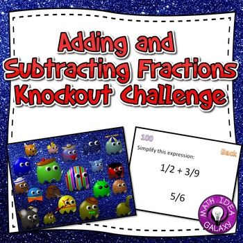 Adding and Subtracting Fractions Challenge Game