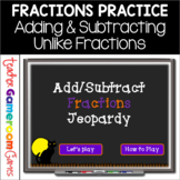 Adding and Subtracting Fractions Jeopardy-Like Powerpoint