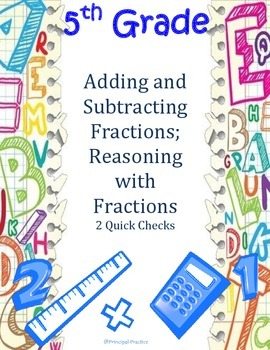 Adding and Subtracting Fractions Quick Checks