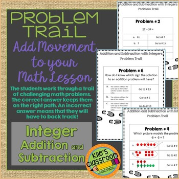 Adding and Subtracting Integers Problem Trail - Add Moveme