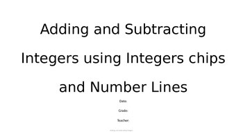 Power Point - Adding and Subtracting Integers Using Models